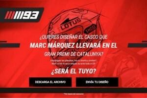 Disegna il casco di Marquez