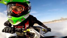 Davide Giugliano e la moto d'acqua