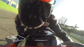 In sella con Biaggi a Vallelunga sulla Aprilia RSV4
