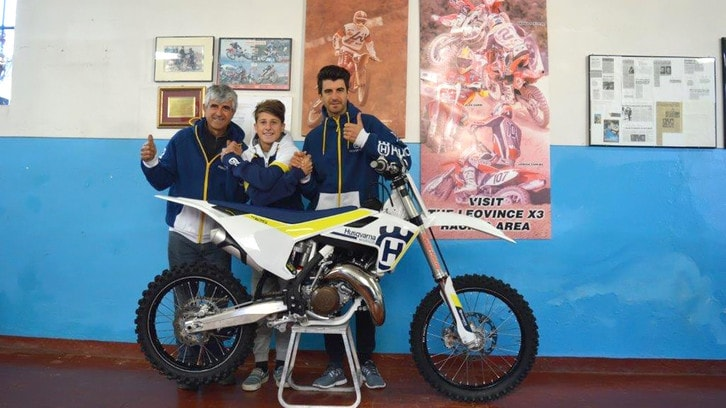Motocross: Facchetti con il team Maddii.