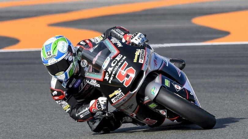 Moto2 Valencia: squillo di Luthi nelle fp1. Quinto Pasini