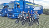 Il Team Suzuki Ecstar on the road