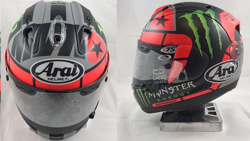 Motogp Maverick Vinales Svela Il Suo Nuovo Casco Motosprint