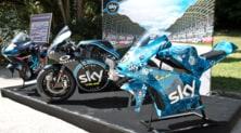 Le moto d'artista dello Sky Racing Team VR46 a Napoli