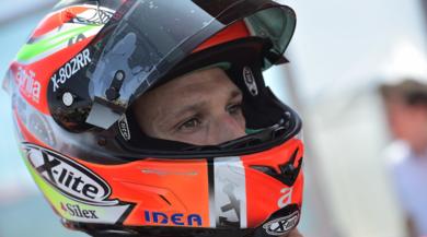 Savadori sull'Aprilia MotoGP a Misano