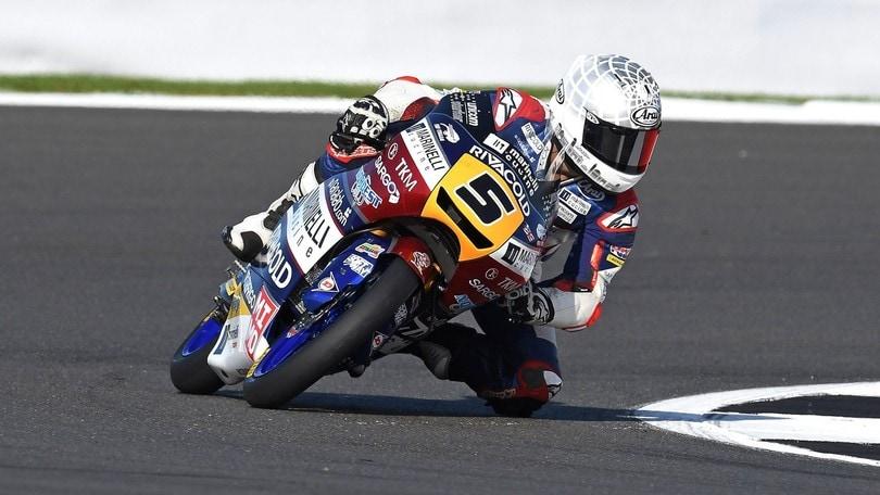 Moto3 Silverstone: Canet leader in fp1. Migno 3° precede Bulega e Bastianini