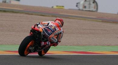 MotoGP Aragon, nelle fp3 Marquez inizia a martellare