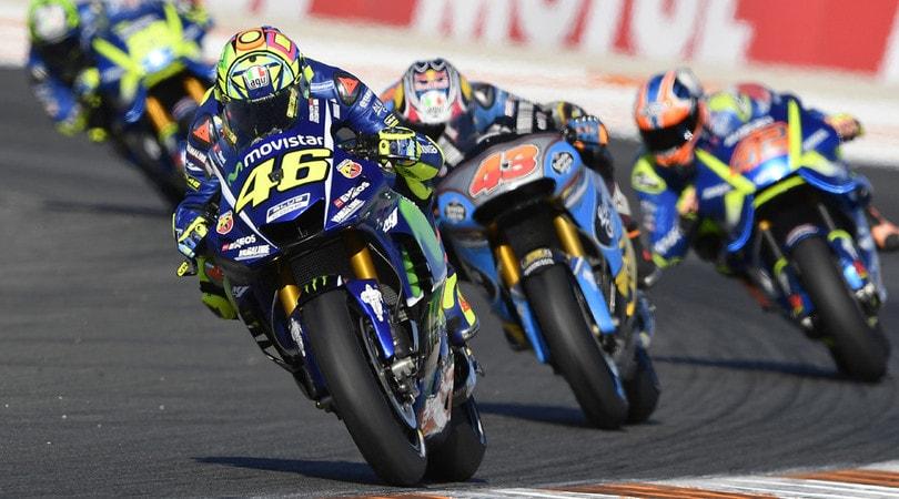 MotoGP Test Valencia Alle 13.00 Marquez al comando, cade Rossi