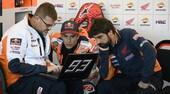 Test Valencia: Marquez il più veloce della mattina, Rossi ko