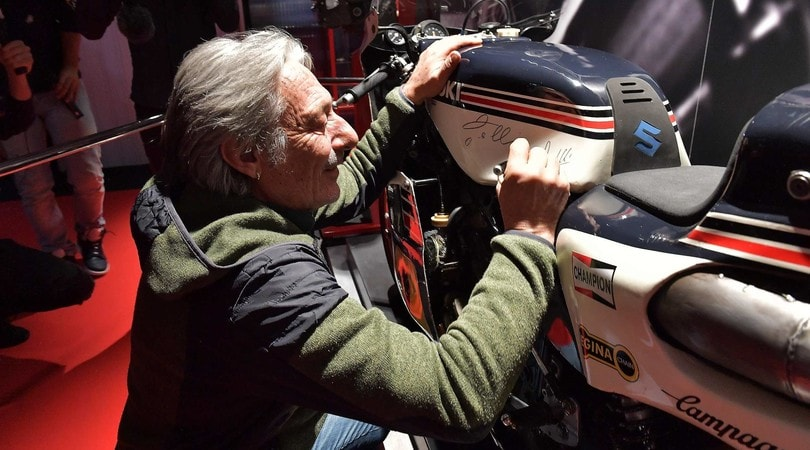 Lucchinelli, Ferrari e Gallina a Moto dei Miti: foto