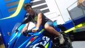 SBK: Gabriele Ruiu sulla Suzuki Grillini