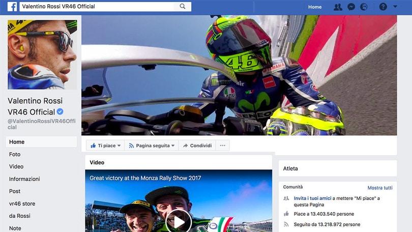 Valentino Rossi re dei social
