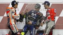 Dovi-Marquez-Rossi: che festa sul podio! - FOTO