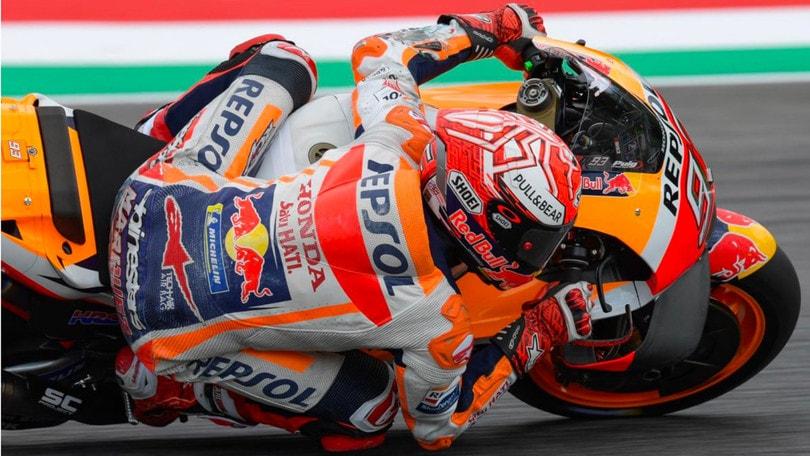 Gp di Catalogna, pole position per Lorenzo: secondo Marquez, settimo Valentino