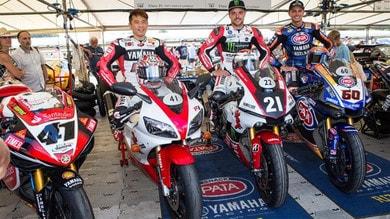 I piloti Yamaha al Festival di Goodwood