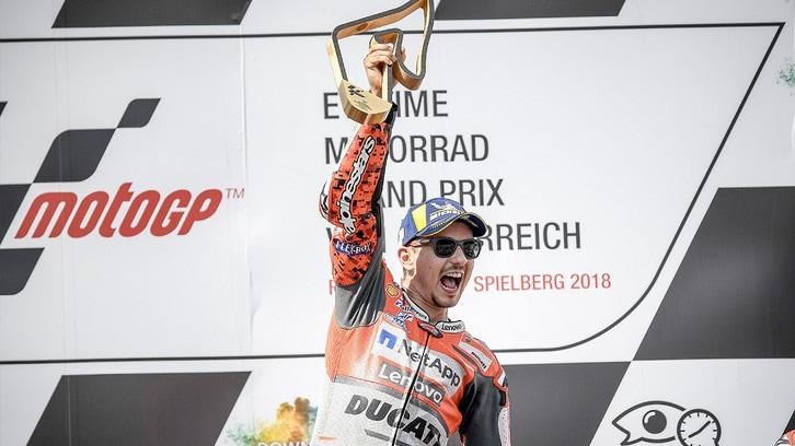 """MotoGP Austria, Lorenzo: """"Una vittoria speciale"""""""