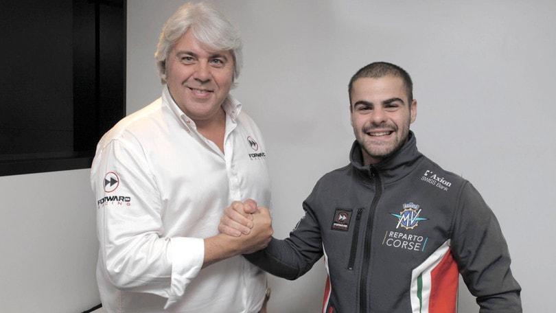Moto2, Romano Fenati sulla MV Agusta nel 2019