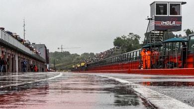 Imola: la pioggia cancella la Superbike e la Supersport 300