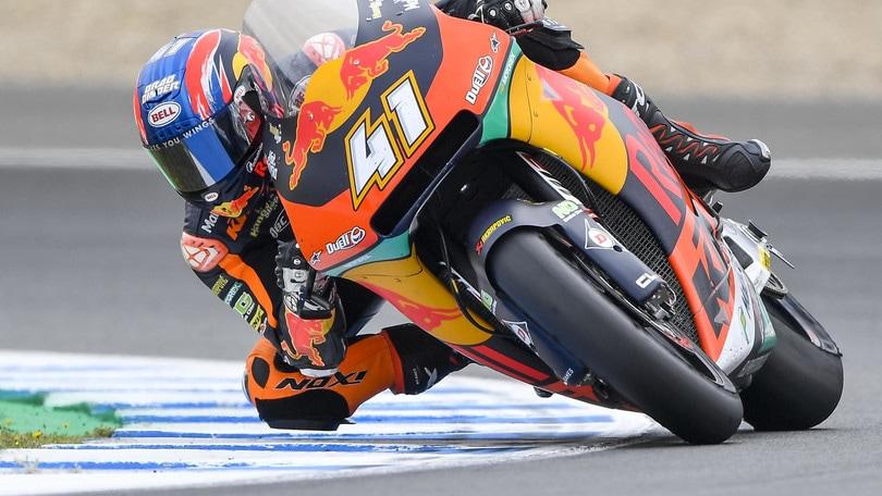 Moto2, olé Marquez. Cade Baldassarri e Corsi si getta via