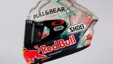 Marquez, un casco con grafiche nuove per il Montmelò