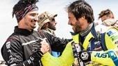 """Dakar, Gerini: """"Ho provato l'ebrezza di essere trainato a 100km/h!"""""""