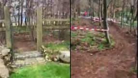 Quarantena: Rea e la pista da ciclocross casalinga - VIDEO