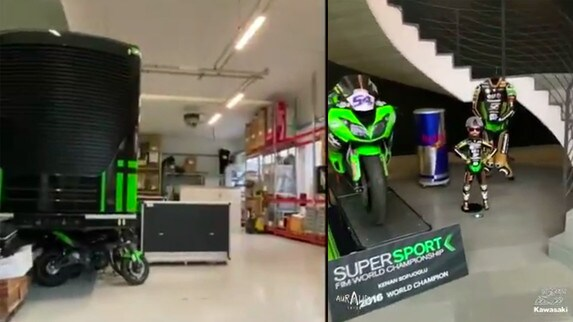 Tour virtuale del Team Kawasaki Puccetti Racing