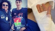 Zannoni dall'ospedale: grave il dito, a rischio amputazione - FOTO