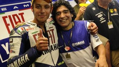 """Diego Armando Maradona e quell'incontro con Rossi: """"Tu sei la storia"""" - FOTO"""