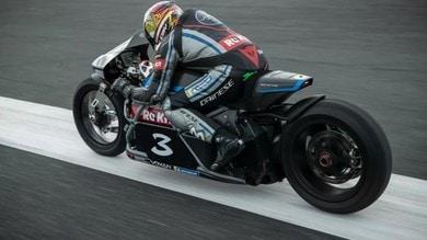 Max Biaggi pronto a superare i 410 km/h con la Voxan elettrica