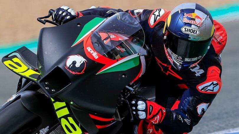 MotoGP, Dovizioso-Aprilia: ecco i primi scatti dei Test Jerez