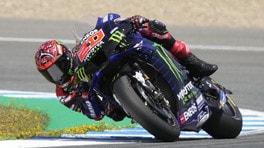 """MotoGP Spagna, Quartararo frenato dal braccio: """"Non so cosa farò"""""""