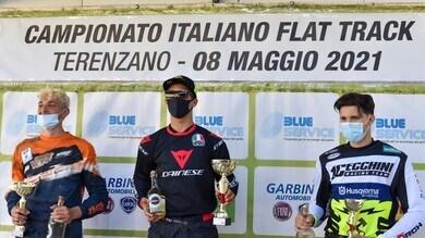 Flat Track, Cecchini eroico: rientro anticipato e 3° posto a Terenzano