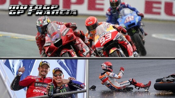 MotoGP Francia: Ducati al Top, Marc Marquez illude con la pioggia