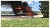 MotoAmerica: a fuoco camper, moto e tutto il materiale di Eric Stahl