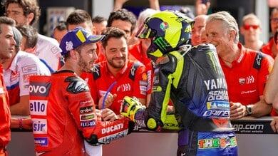 """MotoGP, Dovizioso su Rossi: """"Ritirarsi non è necessariamente negativo"""""""