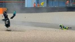 MotoGP Olanda: Valentino Rossi, una caduta che sa di addio
