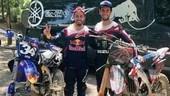 """MotoGP: Dovizioso - Rins, coppia insolita per una giornata """"nel fango"""""""