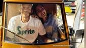 MotoGP: Valentino Rossi porta Francesca in giro con l'Ape