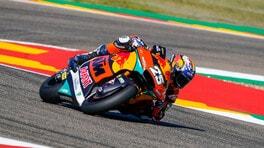 Moto2 Aragon: Raul Fernandez batte anche il dolore, out Bezzecchi