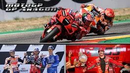 MotoGP, Marquez vede Rosso: Bagnaia vince ad Aragon