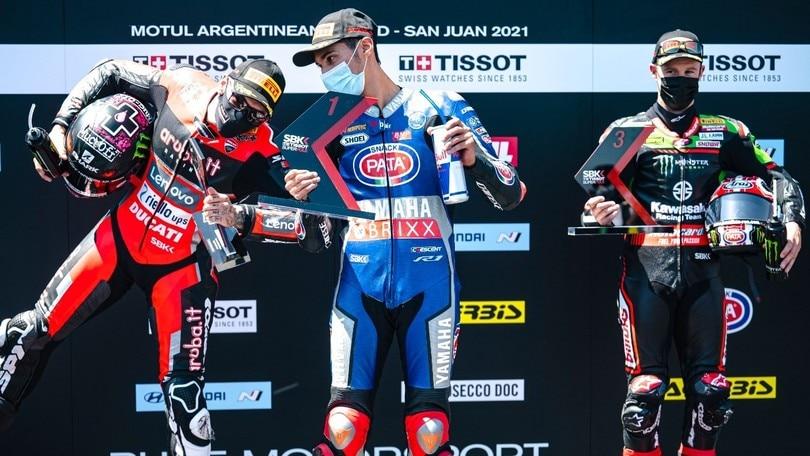 SBK Argentina: Razgatlioglu brucia Redding nella Superpole Race