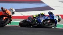 MotoGP: la sequenza della caduta di Joan Mir e Danilo Petrucci a Misano